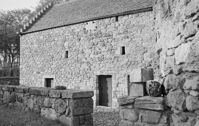 View of the tithe barn, Foulden, from S.