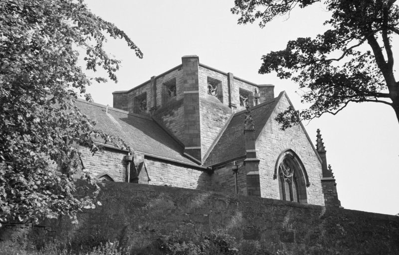 View of tower, All Hollows Church, Inchinnan.
