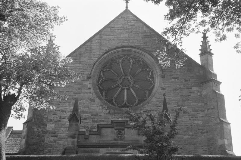 View of rose window, All Hollows Church, Inchinnan.