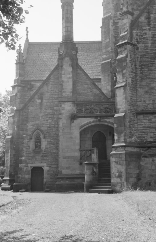 View of entrance to All Hollows Church, Inchinnan.