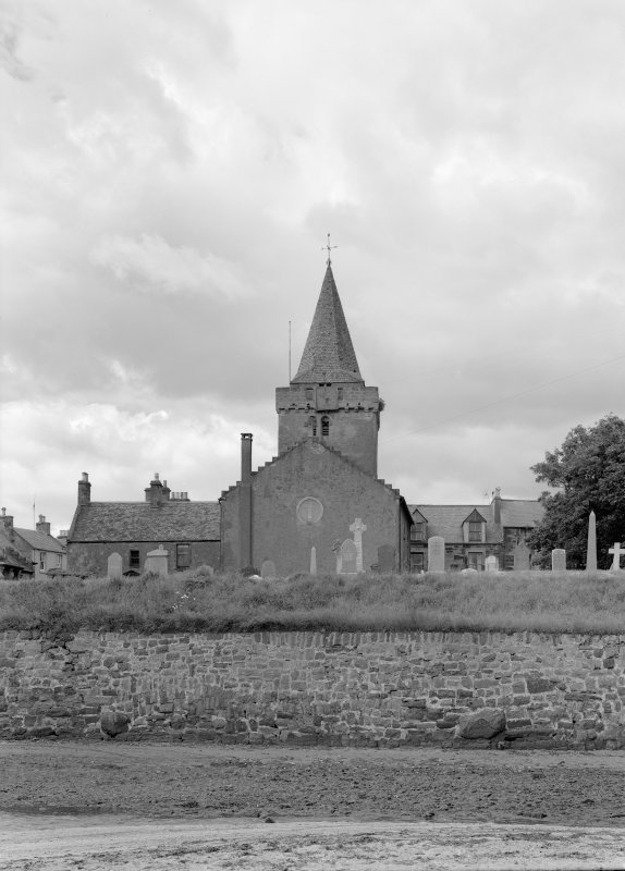 View of church and churchyard, Anstruther Wester, from E.
