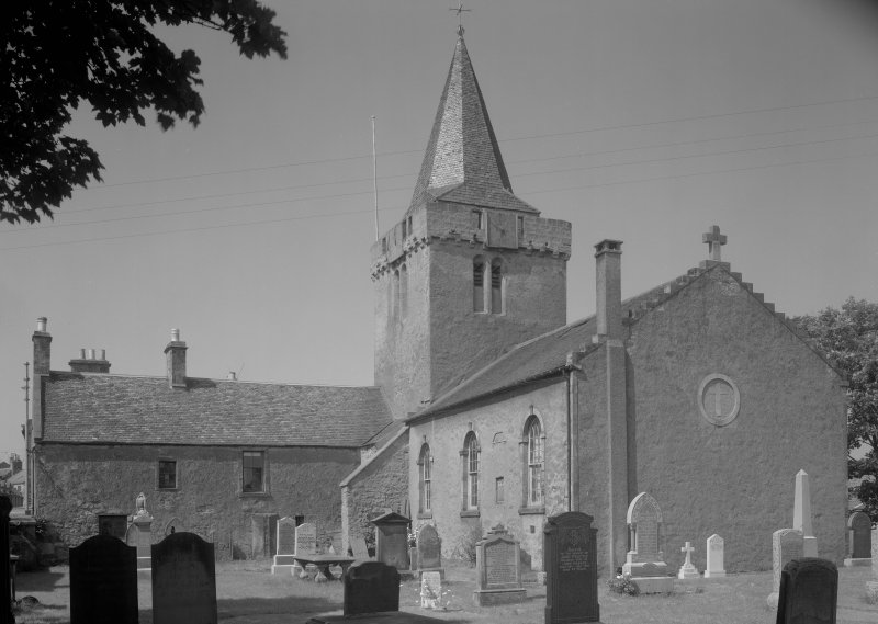 View of church and churchyard, Anstruther Wester, from SE.