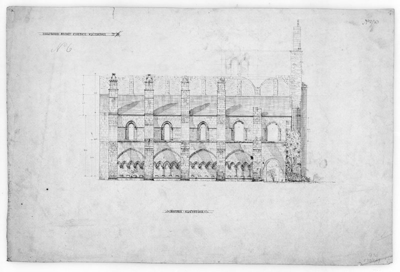 South Elevation of Nave of Holyrood Abbey. u.s.   u.d.