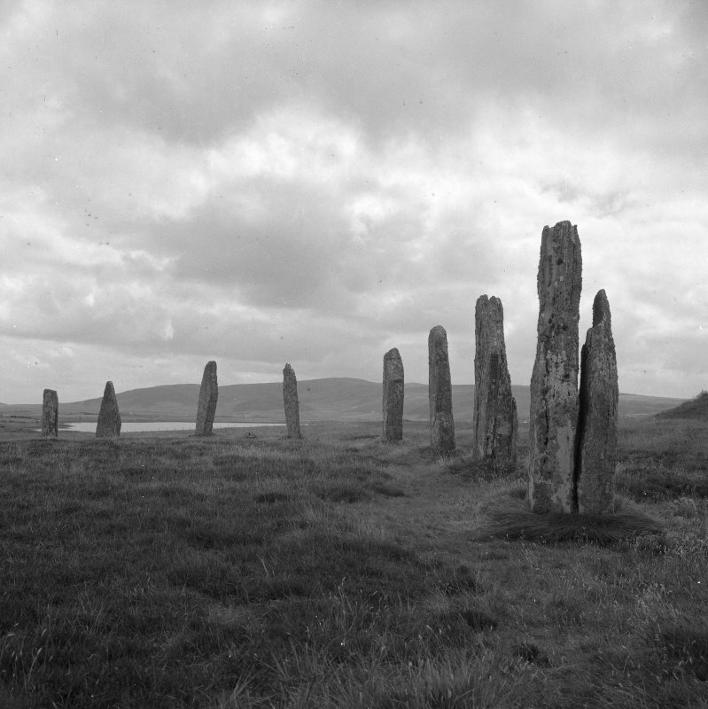 Ring of Brodgar - general view of the monoliths.