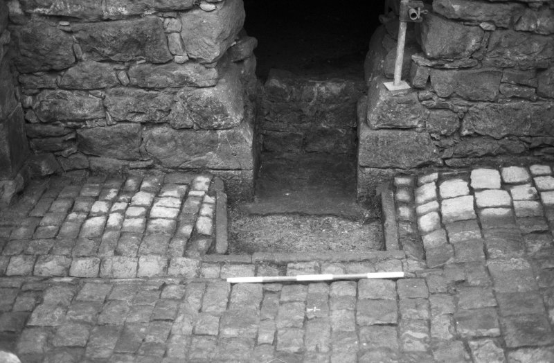 Craignethan Castle Excavations 1984 Frame 14 - The fireplace and ash-pit - from north