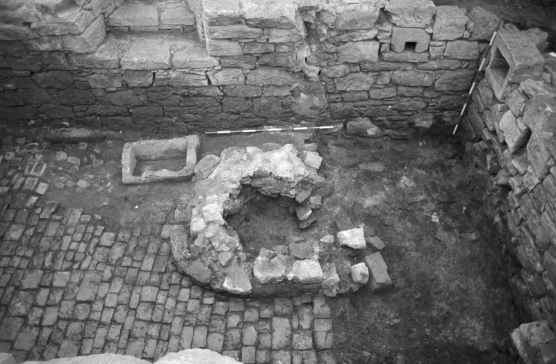 Craignethan Castle Excavations 1984 Frame 22 - Kiln and trough - from south
