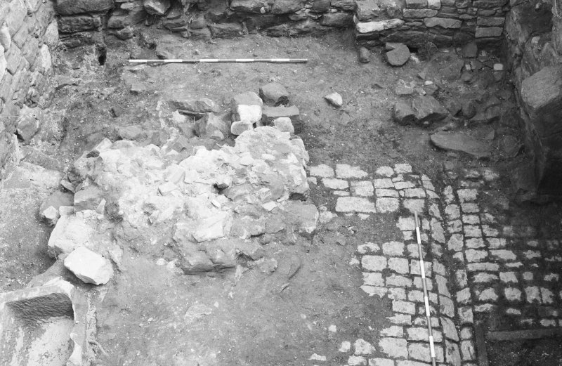 Craignethan Castle Excavations 1984 Frame 17 - The partially excavated kiln - from west