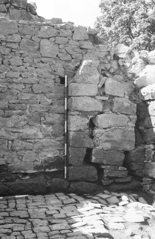 Craignethan Castle Excavations 1984 Frame 33 - Blocked doorway in west wall - from east