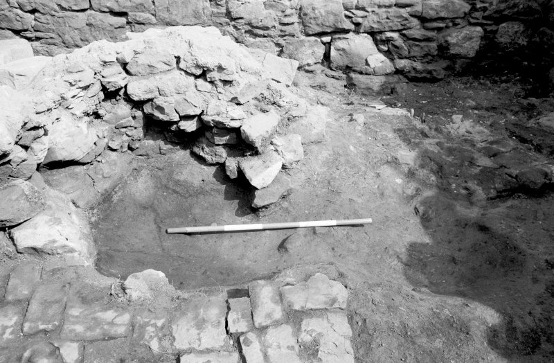 Craignethan Castle Excavations 1984 Frame 28 - Kiln - from south