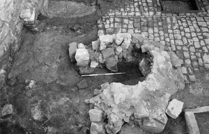 Craignethan Castle Excavations 1984 Frame 5 - Kiln - from north