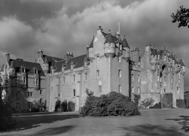 General view of Fyvie Castle from south west.