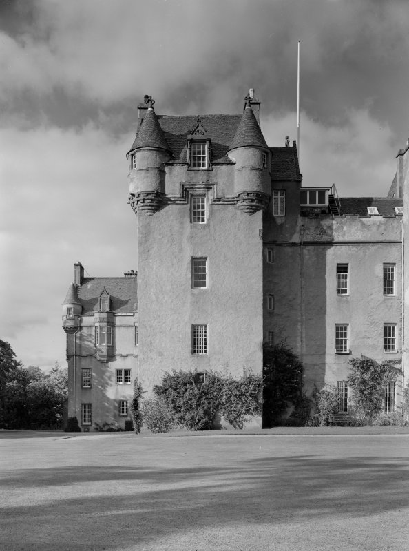 View of Meldrum Tower, Fyvie Castle, from South.