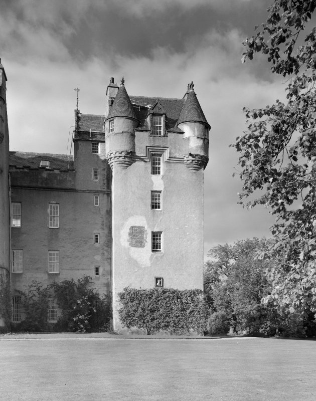 View of Preston Tower, Fyvie Castle, from south.