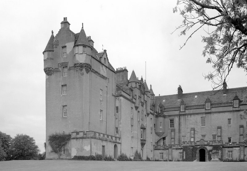 View of Fyvie Castle from north east.