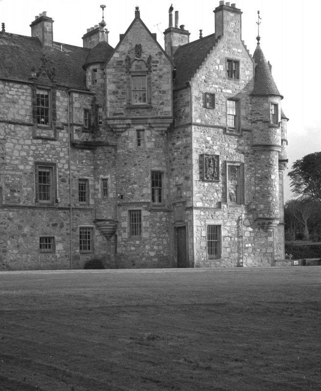 View of N elevation of courtyard, Cullen House courtyard.