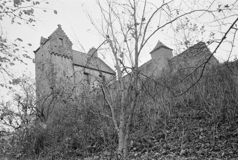 General view of Kinnairdy Castle.