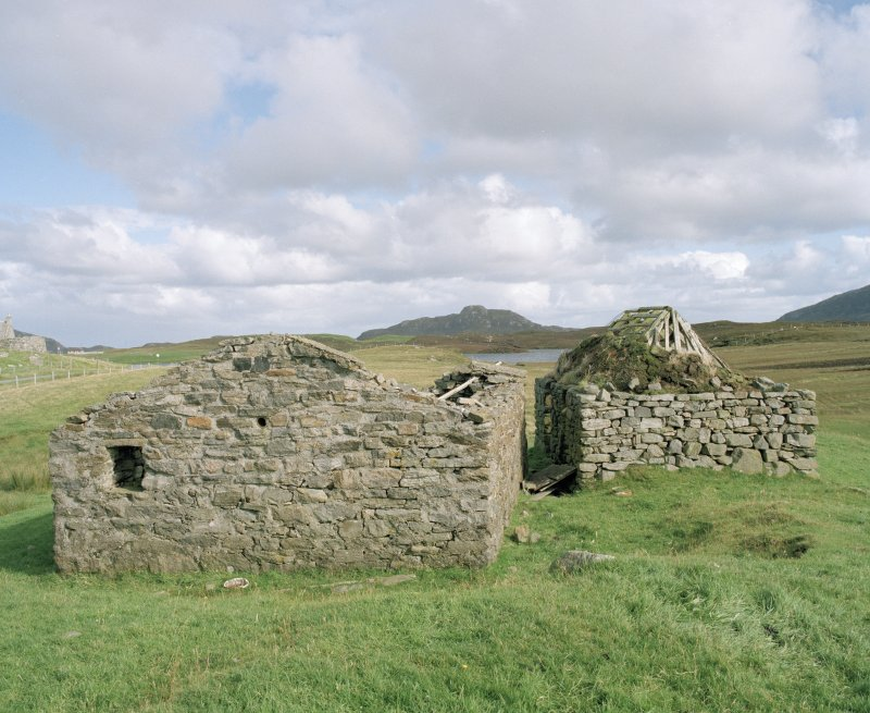 Byre and henhouse, view from W