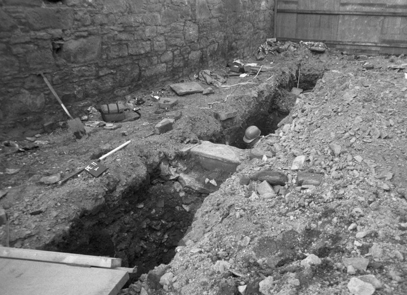 153-5 South Street Film 1 Frame 4 - East facing section of trench A - from north-west