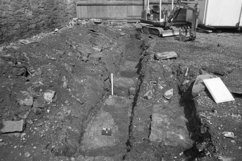 153-5 South Street Film 1 Frame 16 - General view of cut features in trench C - from north