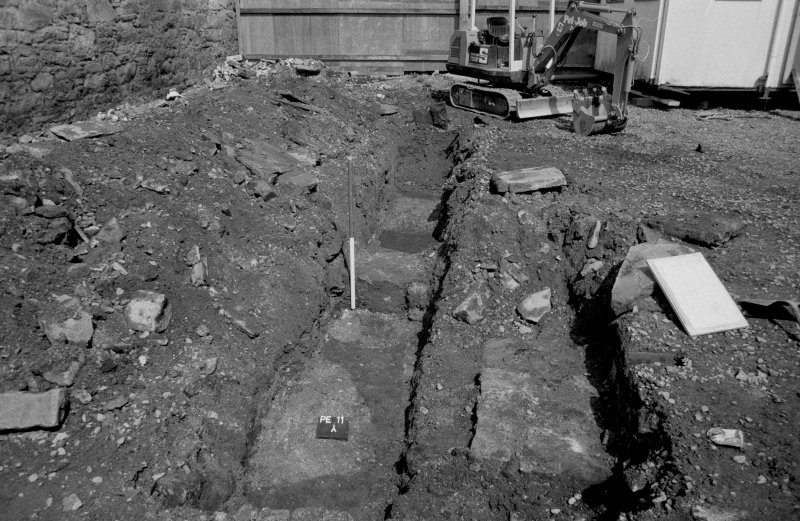 153-5 South Street Film 1 Frame 17 - General view of cut features in trench C - from north