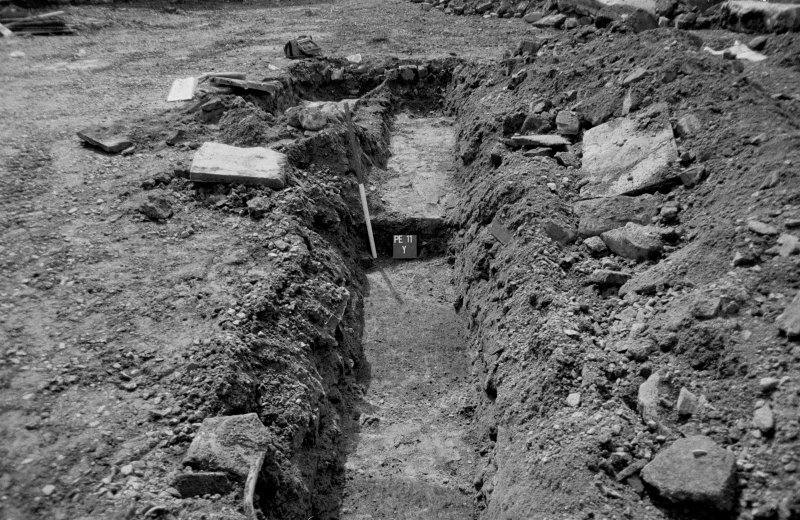 153-5 South Street Film 1 Frame 18 - General view of cut features in trench C - from north