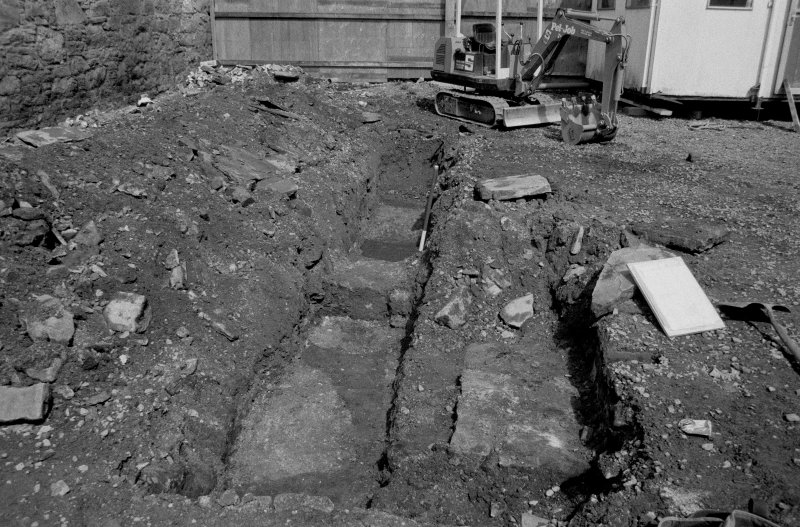 153-5 South Street Film 1 Frame 21 - General view of cut features in trench C - from south