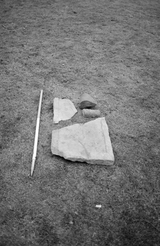 Craignethan Castle Excavations 1993-1995 Frame 1 - Architectural fragments resused in F302