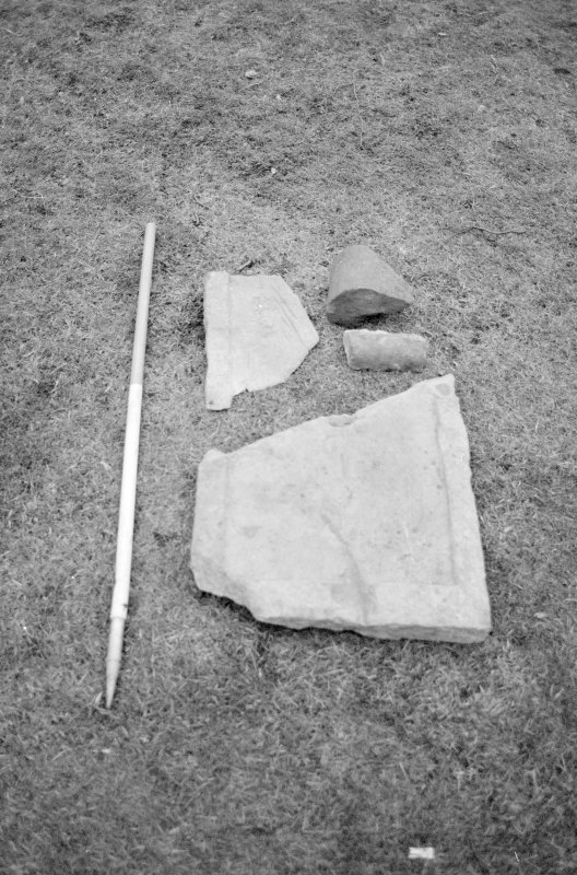 Craignethan Castle Excavations 1993-1995 Frame 2 - Architectural fragments resused in F302