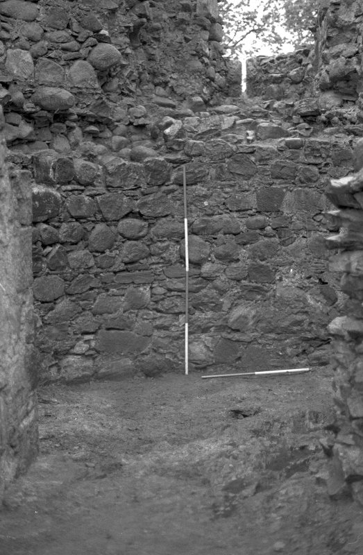 Inverlochy Castle Frame 10 - View into the southwest tower early in the excavation; from north