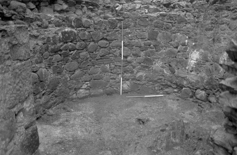 Inverlochy Castle Frame 13 - The south wall of the southwest tower; from north