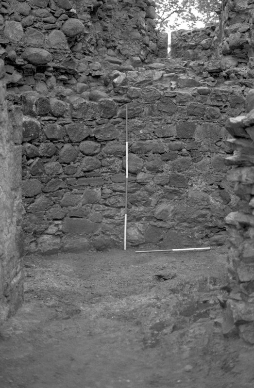 Inverlochy Castle Frame 9 - View into the southwest tower early in the excavation; from north
