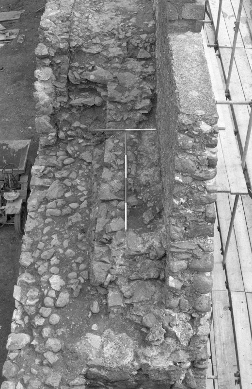 Inverlochy Castle Frame 14 - Steps towards the north end of the west curtain wall; from north