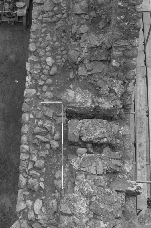 Inverlochy Castle Frame 20 - Steps at the north end of the west curtain wall; from north