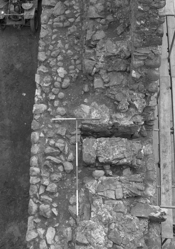 Inverlochy Castle Frame 21 - Steps at the north end of the west curtain wall; from north