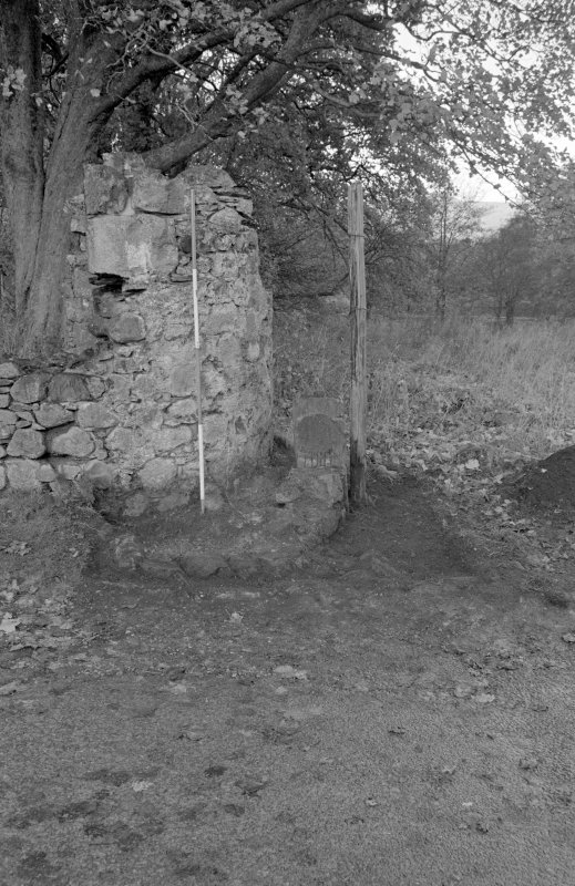 Inverlochy Castle Frame 10 - Trench C deturfed; from south