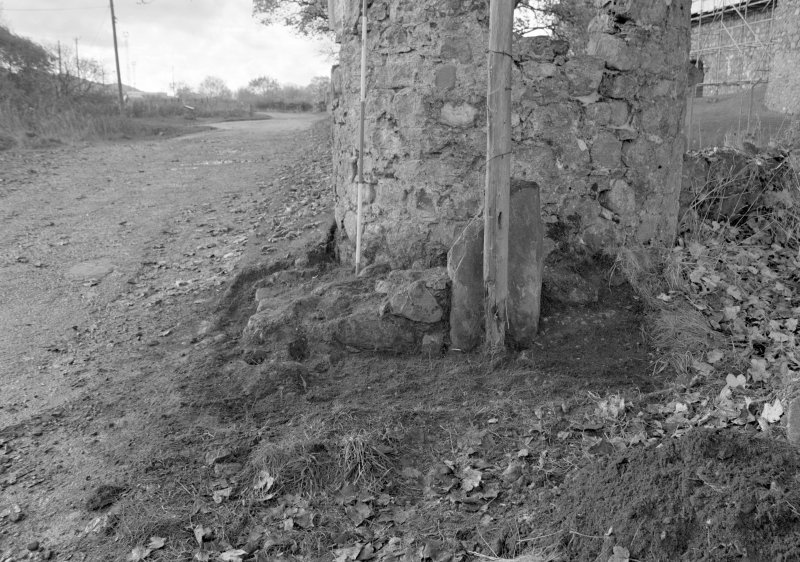 Inverlochy Castle Frame 11 - Trench C deturfed; from east