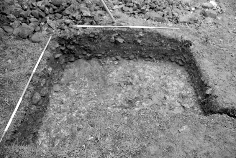 Inverlochy Castle Frame 15 - Trench A: F203 and section; from west