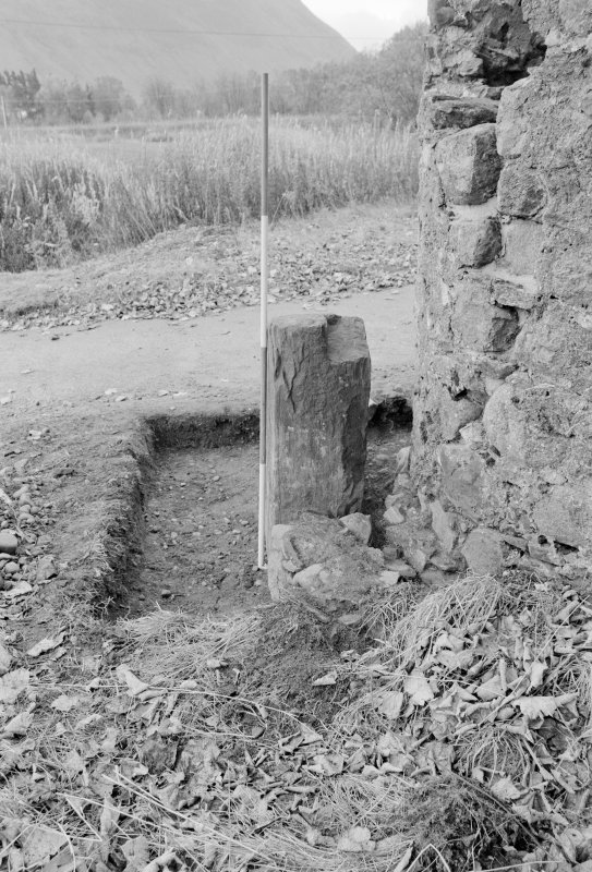 Inverlochy Castle Frame 20 - Trench C excavated; from north