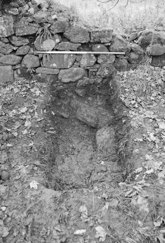 Inverlochy Castle Frame 22 - Trench D (E) excavated; from west