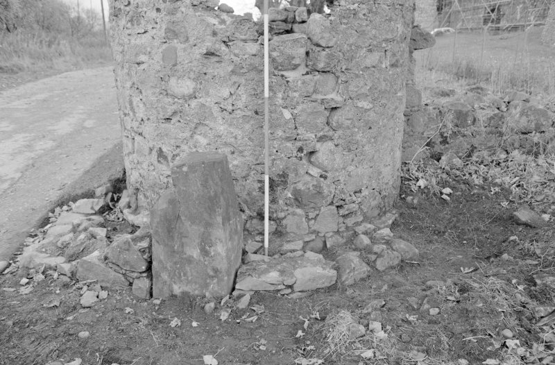 Inverlochy Castle Frame 34 - Trench C extended, showing F402 and F403; from east
