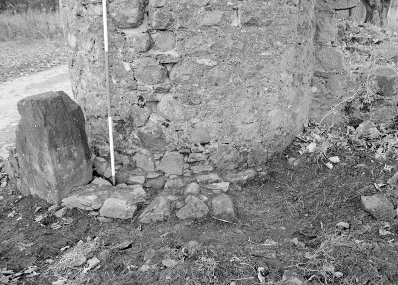 Inverlochy Castle Frame 35 - Trench C extended, showing F402 and F403; from northeast