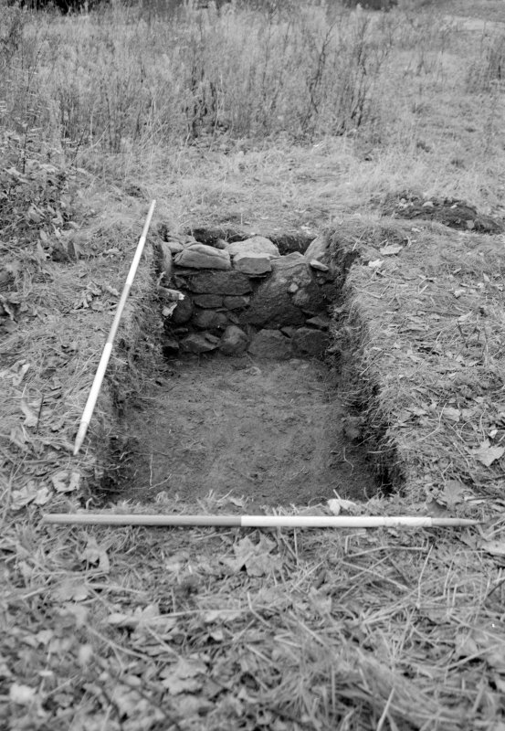 Inverlochy Castle Frame 2 - Trench E (S) excavated; from south