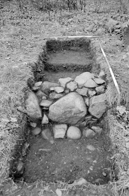 Inverlochy Castle Frame 4 - Detail of wall in Trench E; from north