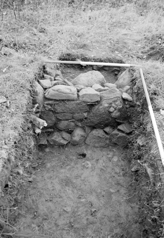 Inverlochy Castle Frame 6 - Detail of wall in Trench E; from south