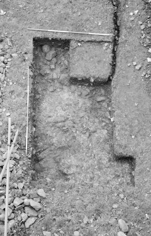 Inverlochy Castle Frame 10 - Trench A excavated; from south