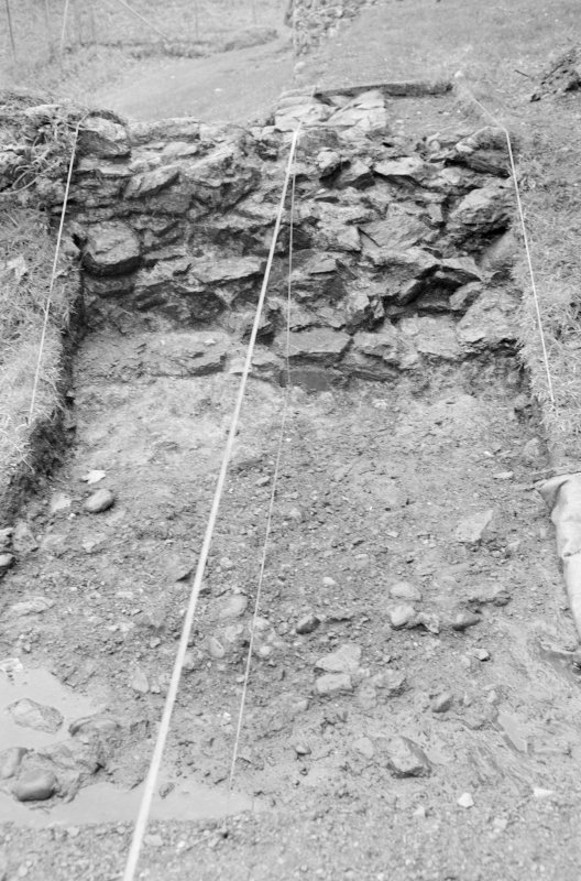 Inverlochy Castle Frame 16 - East side of Trench B excavated; from east