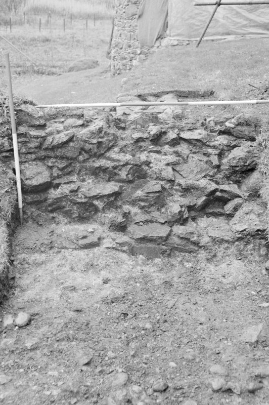 Inverlochy Castle Frame 19 - Trench B: detail of barbican wall F305; from east