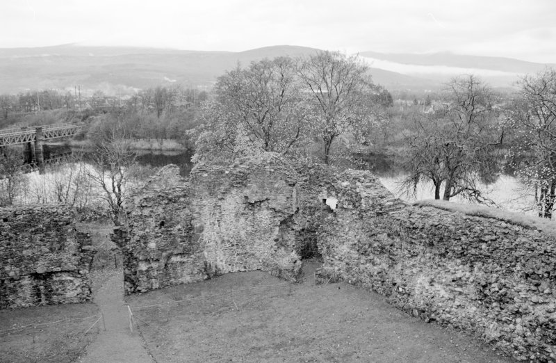 Inverlochy Castle Frame 33 - Northeast corner of castle courtyard; from southwest