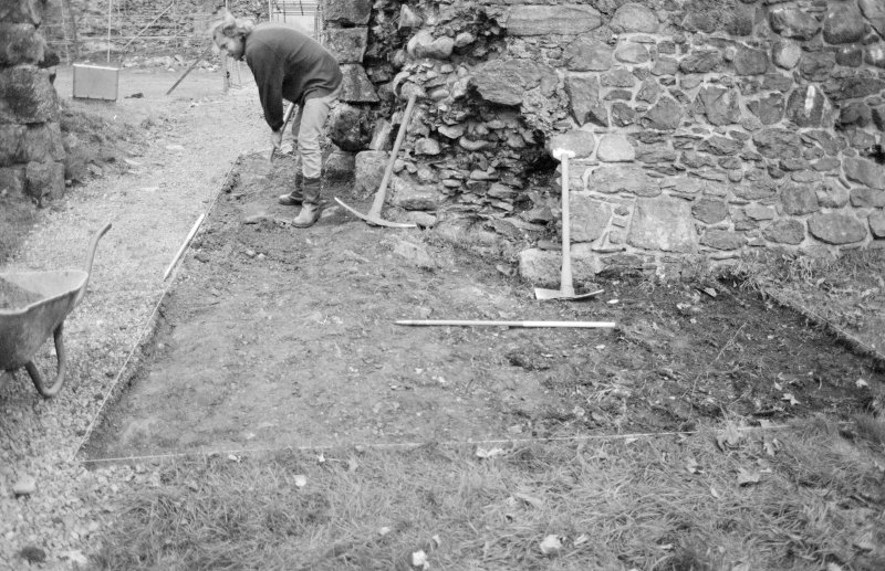 Inverlochy Castle Frame 5 - North end of seagate trench after removal of topsoil; from north