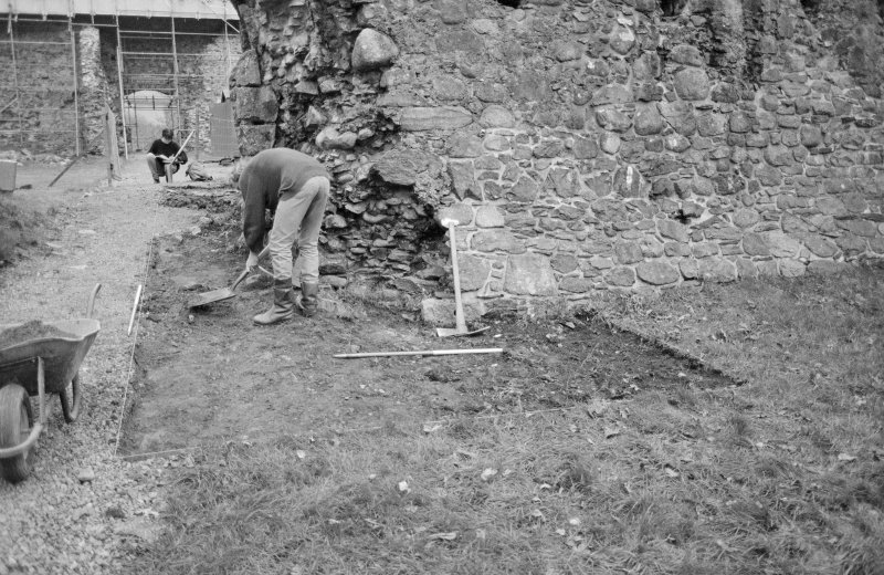 Inverlochy Castle Frame 6 - North end of seagate trench after removal of topsoil; from north